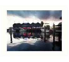 Fremantle Harbour After Dark Art Print