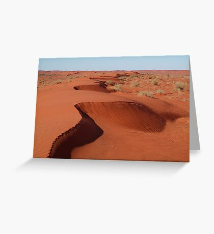 Simpson Desert,N.T. Greeting Card