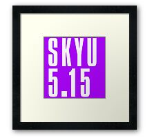 SKYU - White Framed Print