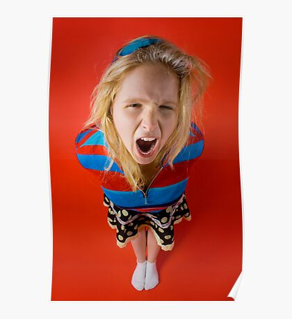 Angry Kid (Emily) Poster