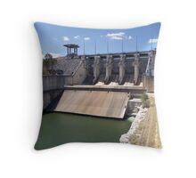 Wivenhoe Dam Wall Gates Throw Pillow