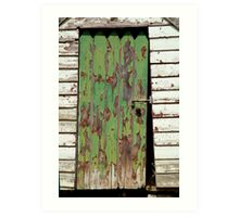 Out House, Dunny Door Art Print