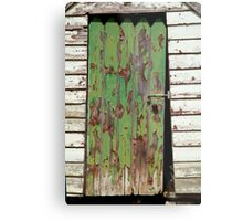 Out House, Dunny Door Metal Print