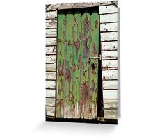 Out House, Dunny Door Greeting Card