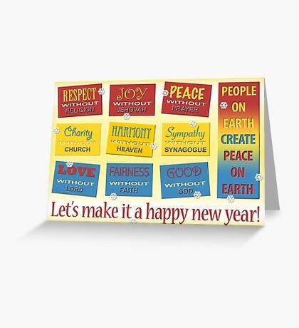 Atheist Greeting Card Greeting Card