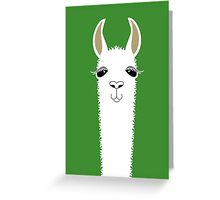 LLAMA PORTRAIT #2 Greeting Card