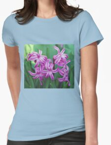 Hyacinth Blossoms Womens Fitted T-Shirt