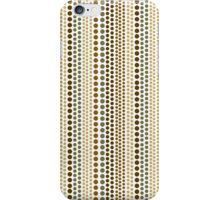 Earthtone Rain Dots Pattern iPhone Case/Skin