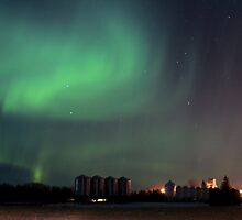 Green Northern Lights by madeinsask