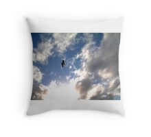 let birds fly above the earth across the expanse of the heavens 2 Throw Pillow
