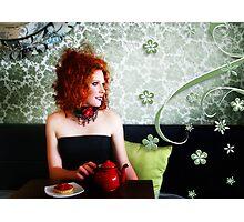 Tea & Tart Photographic Print