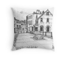 Windsor Eton pedestrian bridge - pen and ink sketch Throw Pillow
