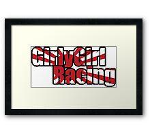 GirlyGirl Racing Framed Print
