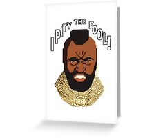 8-bit 80's - Mr. T Greeting Card