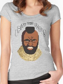 8-bit 80's - Mr. T Women's Fitted Scoop T-Shirt