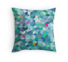 Oceanic cubes Throw Pillow