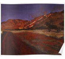 Fireseason II: Oil on Board: 30x37.5cm Poster