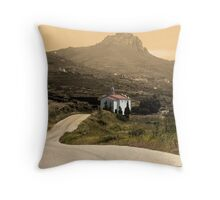 A Drive into the Past Throw Pillow