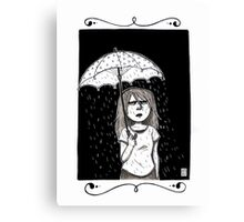 Raining in my parade  Canvas Print