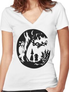 Into the unknown. Women's Fitted V-Neck T-Shirt