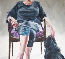 Lesley with Stella (darling) by alstrangeways