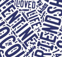 Words of Love Heart Sticker