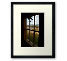 Window View Craig's Hut Framed Print