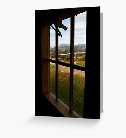 Window View Craig's Hut Greeting Card