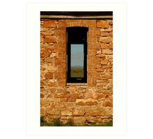Stone Work, Cottage Ruin,Outback Australia Art Print