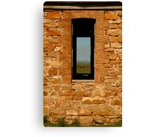 Stone Work, Cottage Ruin,Outback Australia Canvas Print
