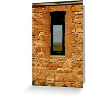 Stone Work, Cottage Ruin,Outback Australia Greeting Card