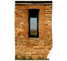 Stone Work, Cottage Ruin,Outback Australia Poster