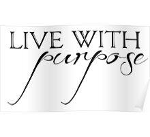 Alpha Gamma Delta - Live with Purpose Poster