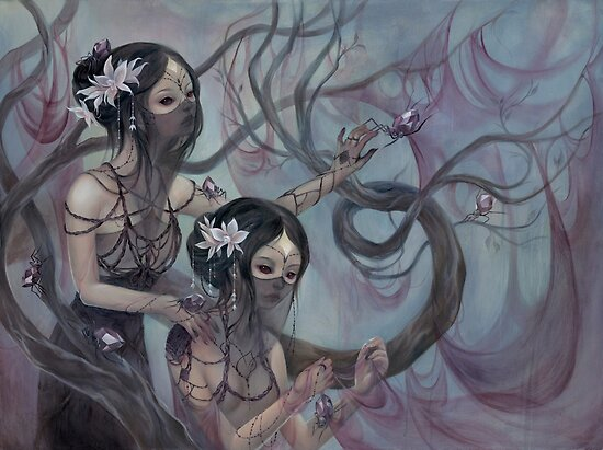 collecting silk from crystal spiders by fioski
