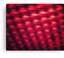 Abstract Color Pattern in Red Canvas Print