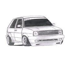 "MK2 VW Golf ""Renegade"" Photographic Print"