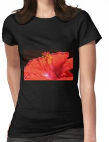 Hibiscus Up Close Womens Fitted T-Shirt