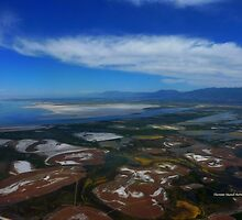 Flying over the Salt Flats of Utah by Charmiene Maxwell-batten
