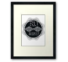 R U Mine? Gry/Blk/Blk Framed Print