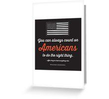 Teenage America Greeting Card