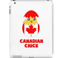 Canadian Chick, a Girl From Canada iPad Case/Skin