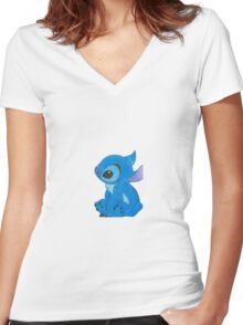 stitch  Women's Fitted V-Neck T-Shirt