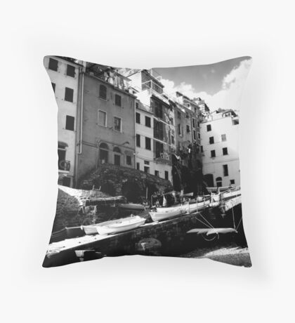 The Boats Throw Pillow