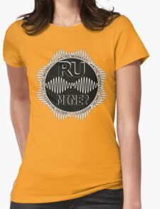R U Mine? Gry/Blk/Blk Womens Fitted T-Shirt