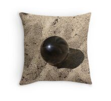 Sphere on waves of sand Throw Pillow