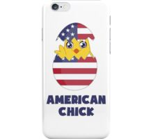 American Chick, a Girl From America iPhone Case/Skin