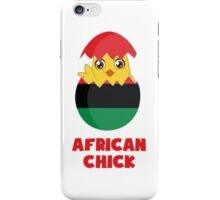 African Chick, a Girl From Africa iPhone Case/Skin