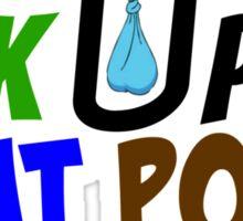 Pick Up That Poop .com Logo Sticker