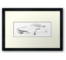 "Bosozoku 1975 Cadillac Eldorado ""Mid-west Mayhem"" Framed Print"