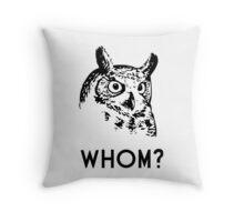 Hoo Who Whom Grammar Owl Throw Pillow
